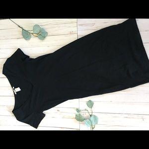 Tight black dress